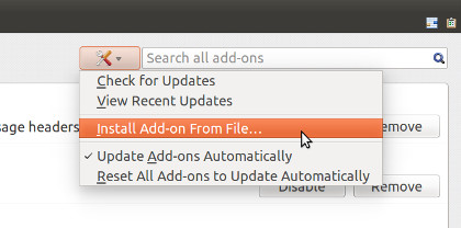 Installing Add-on in Thunderbird
